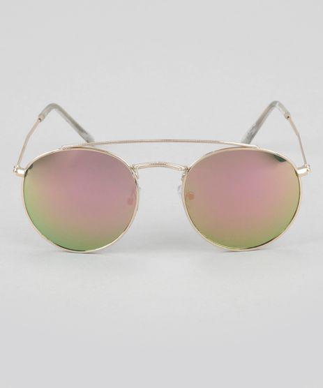 Oculos-de-Sol-Redondo-Feminino-Oneself-Dourado-8744442-Dourado_1