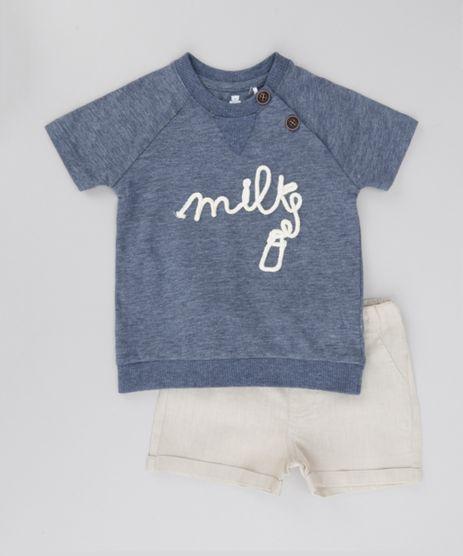 Conjunto-de-Camiseta-Azul-Marinho---Bermuda-Bege-Claro-8495940-Bege_Claro_1