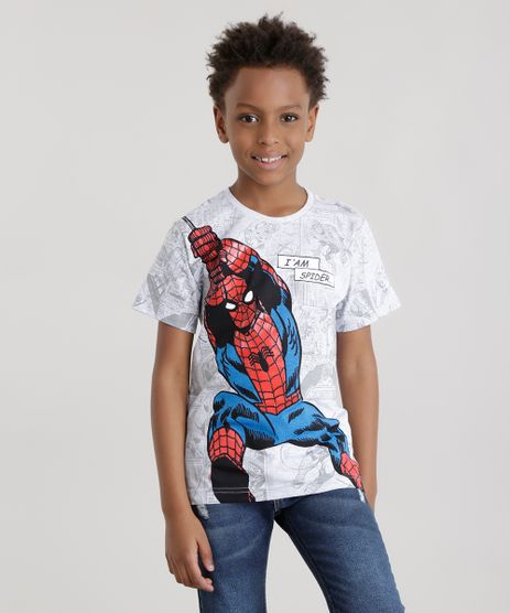 Camiseta-Homem-Aranha-Cinza-Mescla-Claro-8662383-Cinza_Mescla_Claro_1