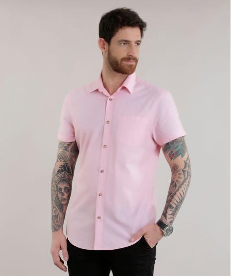 Camisa-Slim-em-Algodao---Sustentavel-Rosa-Claro-8584131-Rosa_Claro_1