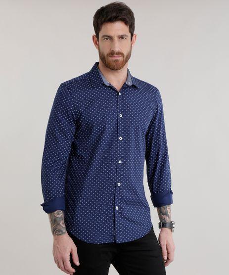 Camisa-Slim-Estampada-em-Algodao---Sustentavel-Azul-Marinho-8582228-Azul_Marinho_1