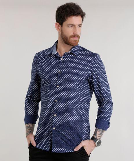 Camisa-Slim-Estampada-em-Algodao---Sustentavel-Azul-Marinho-8585458-Azul_Marinho_1