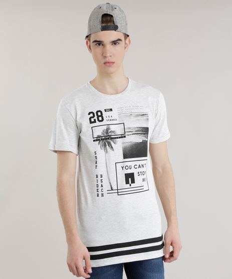 Camiseta-Longa--You-Can-t-Stop-Me--Cinza-Mescla-Claro-8684175-Cinza_Mescla_Claro_1