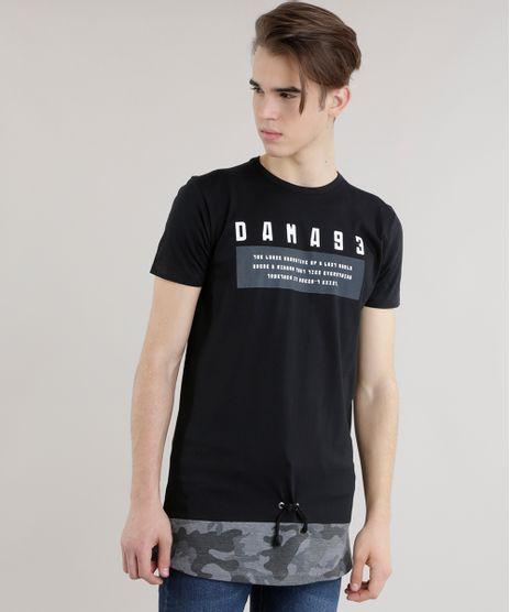 Camiseta-Longa--Dama-93--Preta-8684099-Preto_1