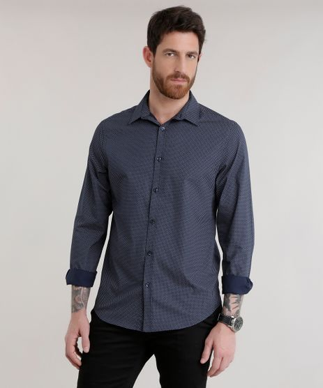 Camisa-Slim-Estampada-Preta-8587058-Preto_1