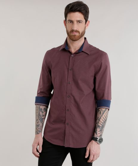 Camisa-Slim-em-Algodao---Sustentavel-Vinho-8581123-Vinho_1