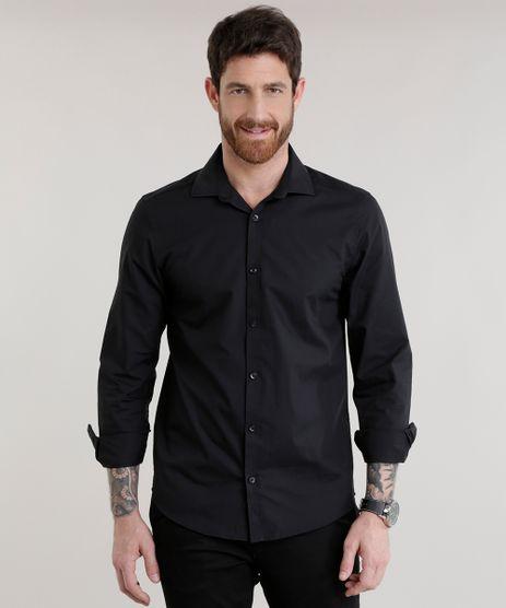 Camisa-Slim-em-Algodao---Sustentavel-Preta-7683136-Preto_1