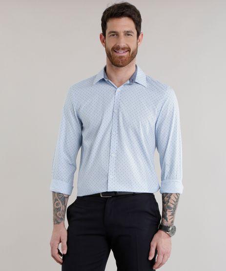 Camisa-Slim-Estampada-em-Algodao---Sustentavel-Azul-Claro-8582719-Azul_Claro_1