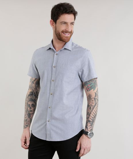 Camisa-Slim-em-Algodao---Sustentavel-Cinza-8584190-Cinza_1