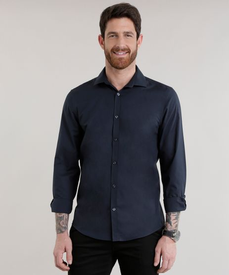 Camisa-Slim-em-Algodao---Sustentavel-Azul-Marinho-7980956-Azul_Marinho_1