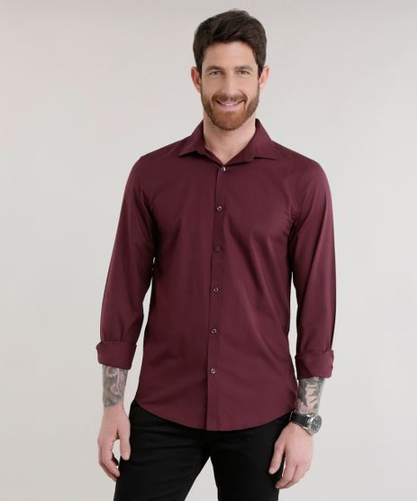 Camisa-Slim-em-Algodao---Sustentavel-Vinho-7982473-Vinho_1
