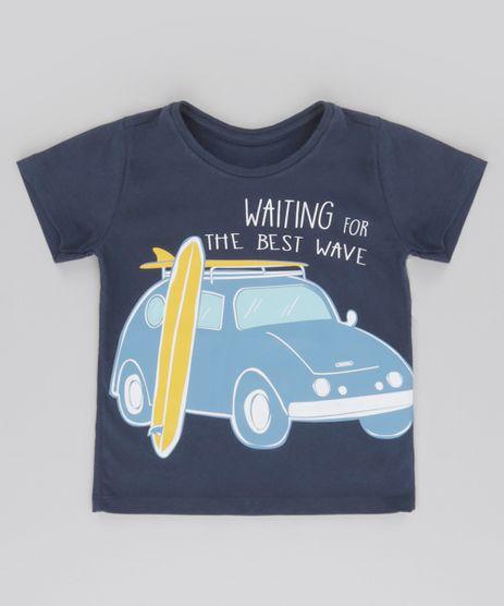 Camiseta--Waiting-for-the-best-wave--Azul-Marinho-8612501-Azul_Marinho_1