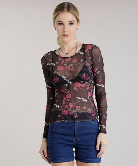 Blusa-em-Tule-Estampada-Floral-Preta-8682273-Preto_1