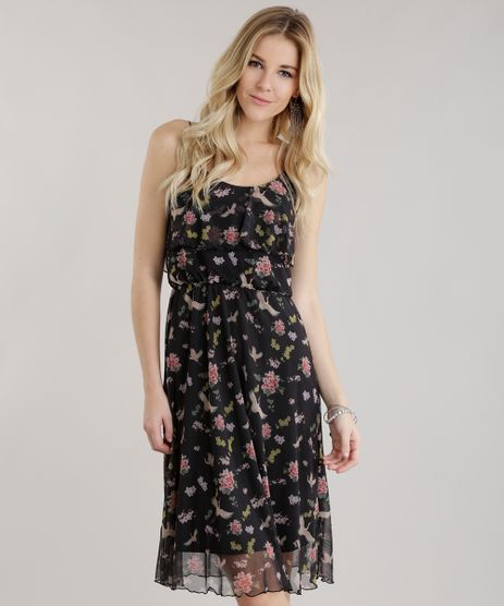 Vestido-Midi-em-Tule-Estampado-Floral-Preto-8702703-Preto_1