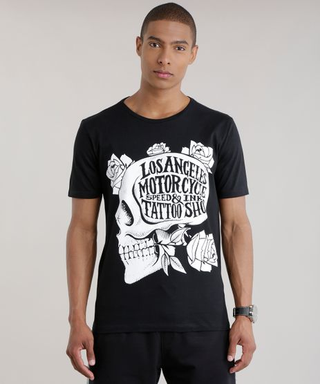 Camiseta--Los-Angeles-Motorcycle--Preta-8707084-Preto_1