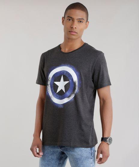Camiseta-Capitao-America-Cinza-Mescla-Escuro-8644266-Cinza_Mescla_Escuro_1