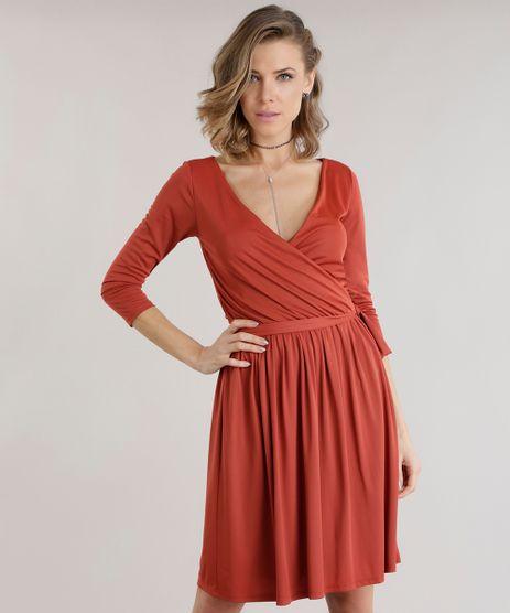 Vestido-com-Cordao-para-Amarracao-Laranja-Escuro-8747853-Laranja_Escuro_1