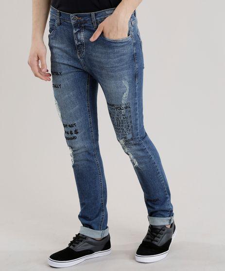 Calca-Jeans-Skinny-com-Estampa-Azul-Medio-8684635-Azul_Medio_1