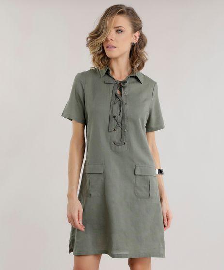 Vestido-em-Linho-Verde-Militar-8591953-Verde_Militar_1