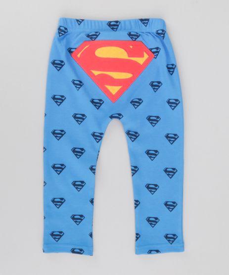 Calca-Estampada-Super-Homem-em-Algodao---Sustentavel-Azul-Royal-8622564-Azul_Royal_1