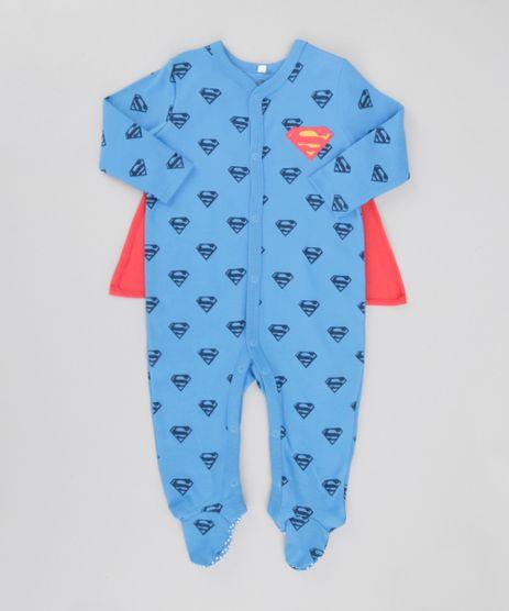 Macacao-Estampado-Super-Homem-com-Capa-em-Algodao---Sustentavel-Azul-8622571-Azul_1