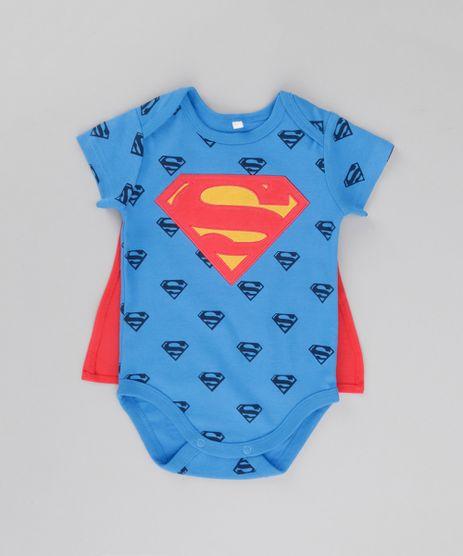 Body-Estampado-Super-Homem-com-Capa-em-Algodao---Sustentavel-Azul-8622557-Azul_1