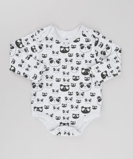 Body-Estampado-Panda-em-Algodao---Sustentavel-Cinza-Mescla-8682704-Cinza_Mescla_1