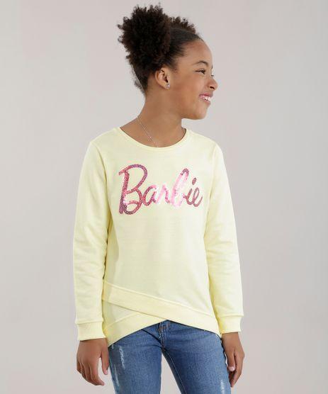Blusao-em-Moletom-Barbie-com-Paete-Amarelo-8698664-Amarelo_1