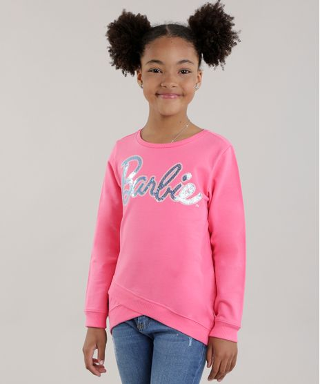 Blusao-em-Moletom-Barbie-com-Paete-Rosa-8698664-Rosa_1