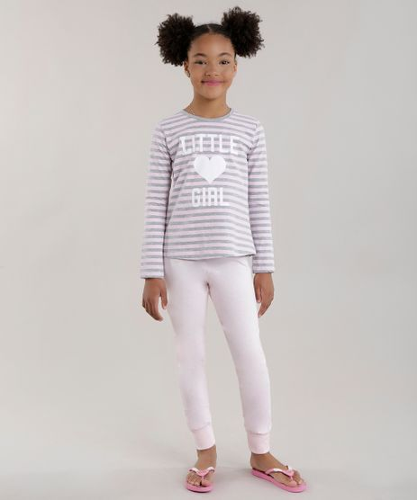 Pijama-Listrado--Little-Girl--Rosa-Claro-8677539-Rosa_Claro_1