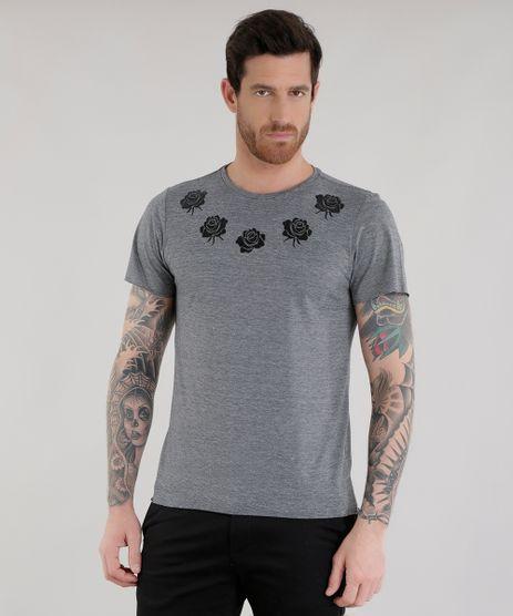 Camiseta-Listrada-com-Flores-Cinza-Mescla-8659469-Cinza_Mescla_1
