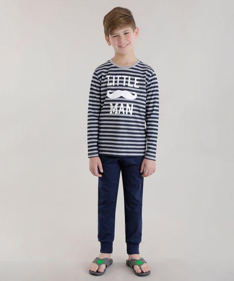 Pijama-Listrado--Little-Man--Cinza-Mescla-8677570-Cinza_Mescla_1
