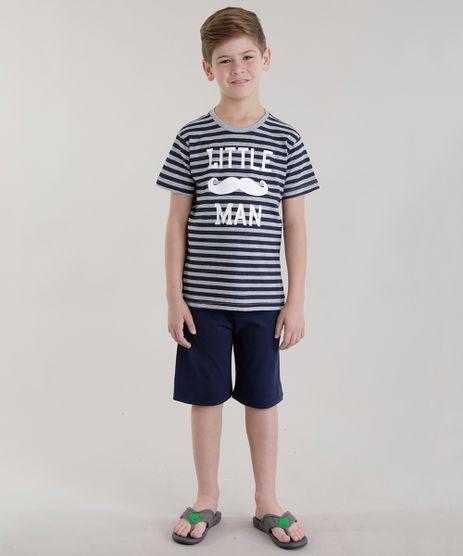 Pijama-Listrado--Little-Man--Cinza-Mescla-8677562-Cinza_Mescla_1