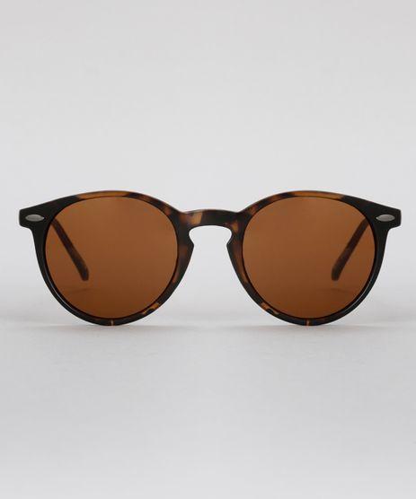 Oculos-de-Sol-Redondo-Feminino-Oneself-Tartaruga-8755262-Tartaruga_1