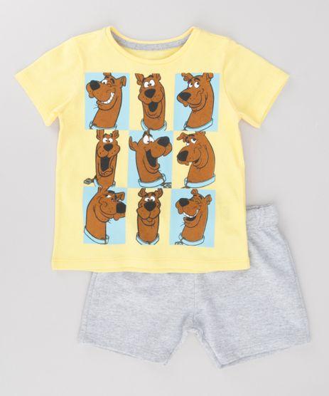 Conjunto-de-Camiseta-Amarela---Bermuda-Scooby-Doo-Cinza-Mescla-8702513-Cinza_Mescla_1