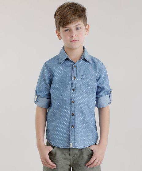 Camisa-Jeans-Estampada-de-Poa-Azul-Claro-8584876-Azul_Claro_1