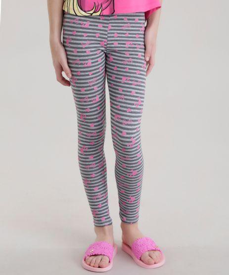Calca-Legging-Estampada-Barbie-Cinza-Mescla-8692382-Cinza_Mescla_1