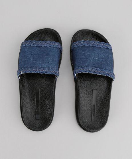 Chinelo-Slide-Molekinha-com-Jeans-Preto-8727470-Preto_1