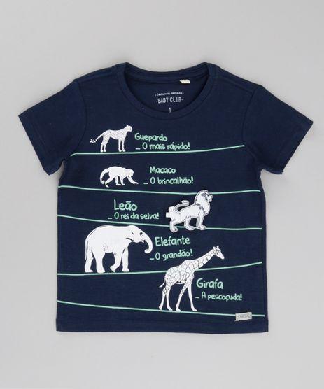 Camiseta-Animais-da-Savana-Azul-Marinho-8683417-Azul_Marinho_1
