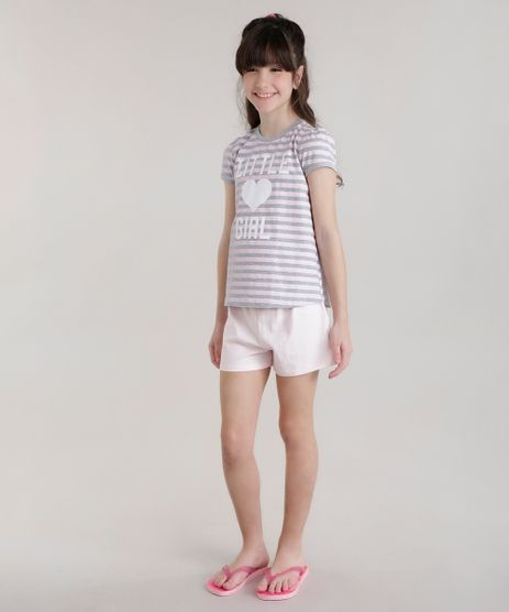 Pijama-Listrado--Little-Girl--Rosa-Claro-8677554-Rosa_Claro_1