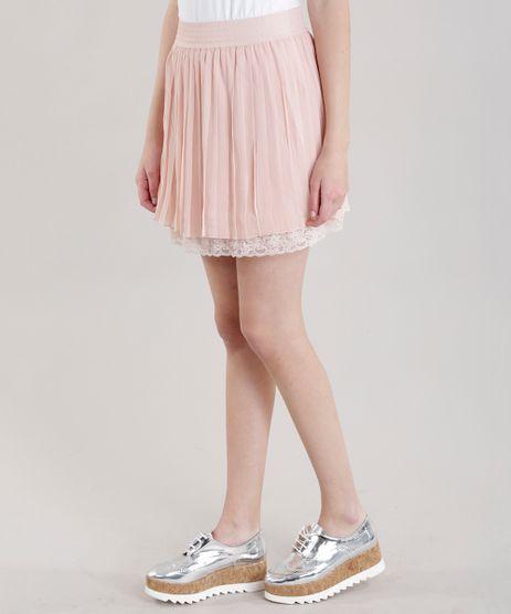 Saia-Midi-com-Pregas-e-Renda-Rose-8593686-Rose_1