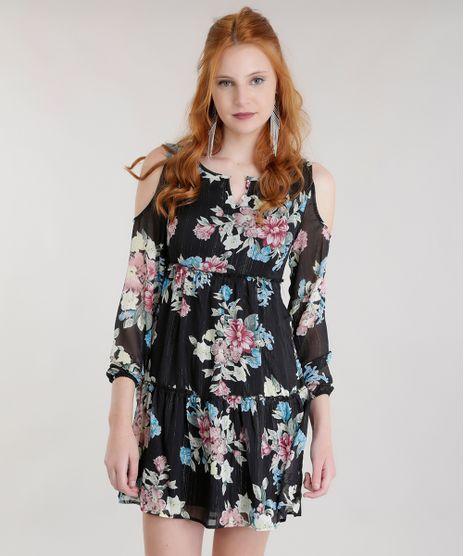 Vestido-Open-Shoulder-Estampada-Floral-com-Lurex-Preto-8593636-Preto_1