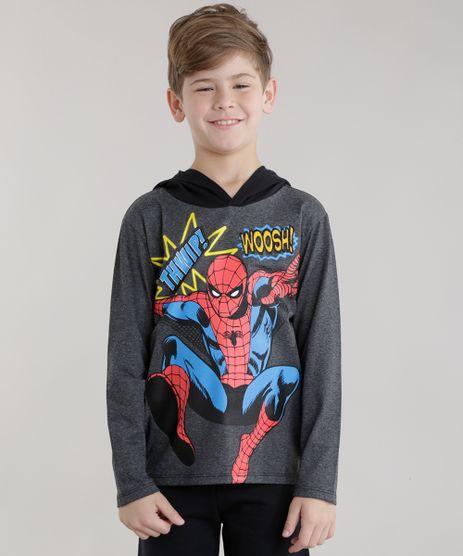 Camiseta-Homem-Aranha-com-Capuz-Cinza-Mescla-Escuro-8707111-Cinza_Mescla_Escuro_1