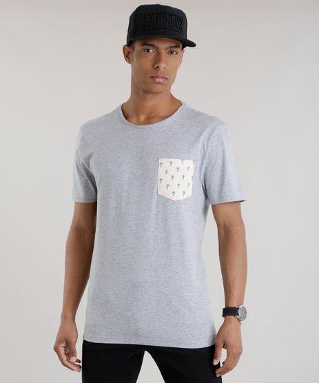Camiseta-com-Bolso-Estampada-de-Coqueiros-Cinza-Mescla-8701897-Cinza_Mescla_1