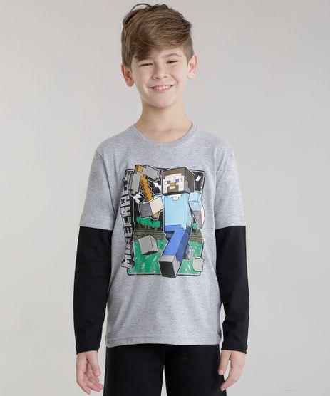 Camiseta-Minecraft-Cinza-Mescla-8662362-Cinza_Mescla_1