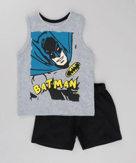 Conjunto-Batman-de-Regata-Cinza-Mescla---Bermuda-em-Moletom-Preta-8702538-Preto_1
