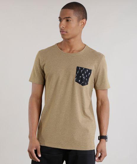Camiseta-com-Bolso-Estampada-de-Flamingos-Caramelo-8679182-Caramelo_1