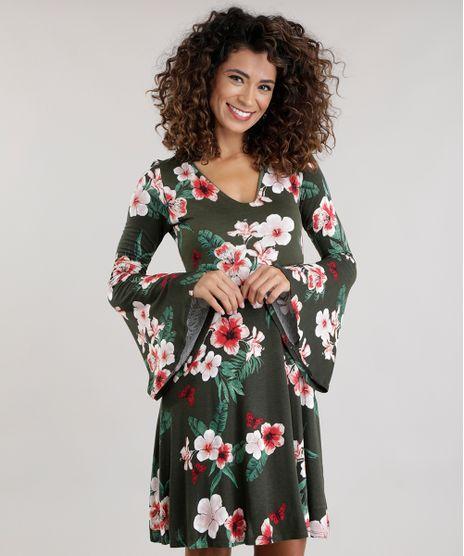 Vestido-Estampado-Floral-Verde-Militar-8704116-Verde_Militar_1
