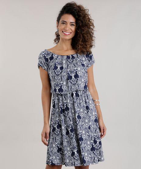 Vestido-Estampado-de-Arabescos-Azul-Marinho-8713377-Azul_Marinho_1