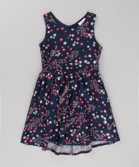 Vestido-Estampado-Floral-com-Recorte-Azul-Marinho-8459053-Azul_Marinho_1